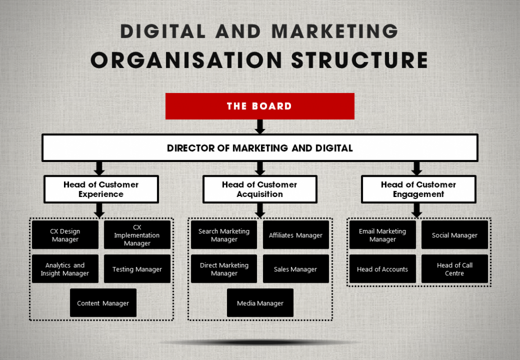 Digital and marketing organisation structure